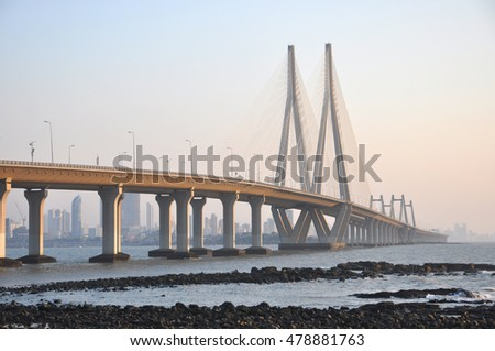 Bandra Worli Sea link is a major sea link that connects the Mumbai City, India. It is architectural excellence where the bridge was built on the ocean connecting Mumbai towns.