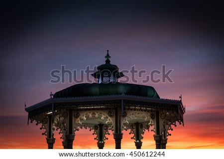 Bandstand in Brighton at Sunset