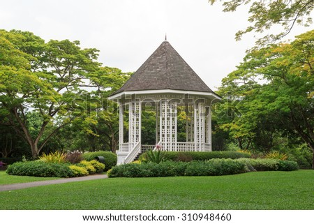 Bandstand in Singapore Botanic Gardens - stock photo