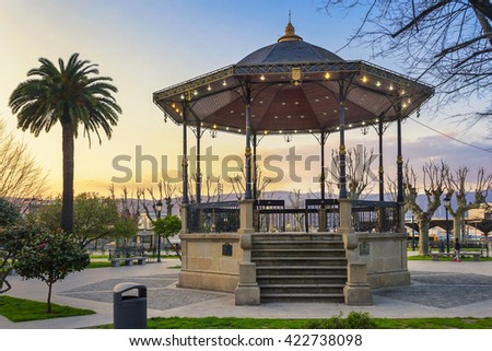 Bandstand of Marin city at the evening - stock photo