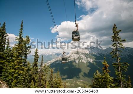 Banff gondola - stock photo