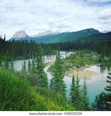Banff national park. Alberta, Canada. Instagram effects - stock photo