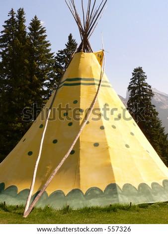 Banff Tepee - stock photo