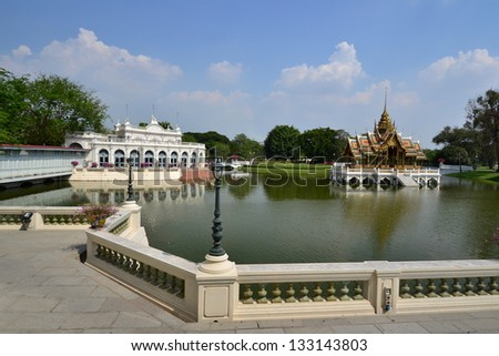 Bang Pa-In Palace in Ayutthaya Province,Thailand,Asia.