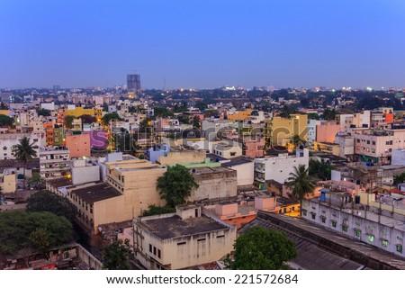 Bangalore City skyline, India - stock photo