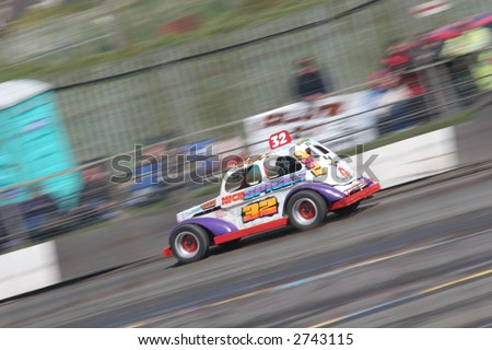 Banger Racing - stock photo