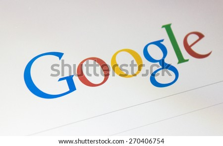 BANGKOK, APRIL 2015: Google is an American multinational corporation specializing in Internet-related services and products. - stock photo