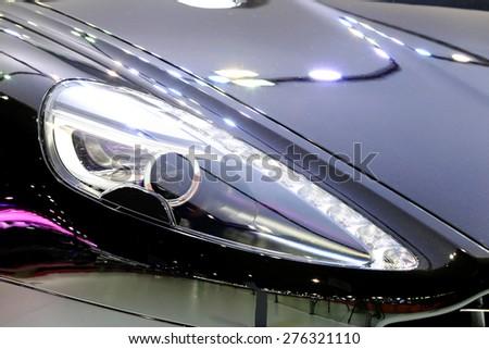 Bangkok April Headlights Aston Martin Stock Photo Royalty Free - Aston martin headlights