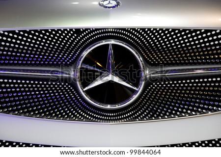 BANGKOK - APRIL 1: Mercedes Benz Concept A-Class on display in Challenger Hall, Impact Muangthong Thani,The 33 rd Bangkok International Motor Show in Bangkok,Thailand on April 1, 2012. - stock photo