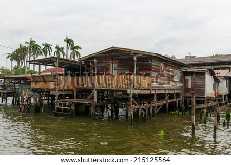 Bangkok home river stock photos images pictures for Thai classic house 2