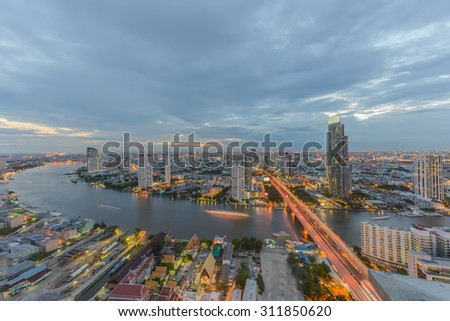 BANGKOK, August 31 : Bangkok view from abandon tower on August 31, 2015. Bangkok is the capital and the most populous city of Thailand. It is known in Thai as Krung Thep Maha Nakhon.