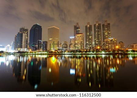 Bangkok, capital city of Thailand at evening