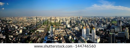 bangkok city - stock photo