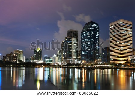 Bangkok city at night ,Thailand