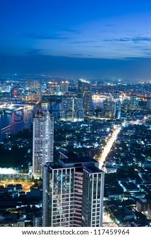 Bangkok city scape - stock photo