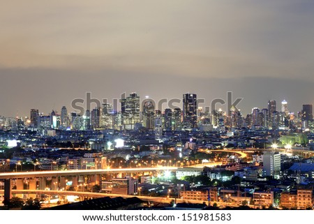 Bangkok city scape at nighttime