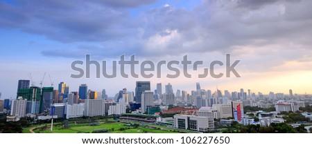 bangkok city scape on twilight - stock photo