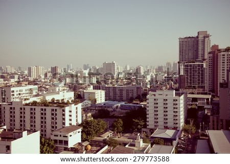 Bangkok city sky line - Thailand - stock photo