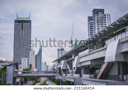 Bangkok cityscape - stock photo
