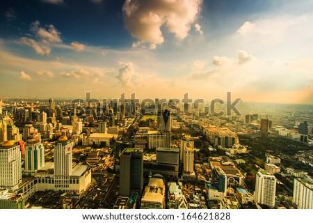 Bangkok cityscape. Bangkok view in the business district Thailand - stock photo