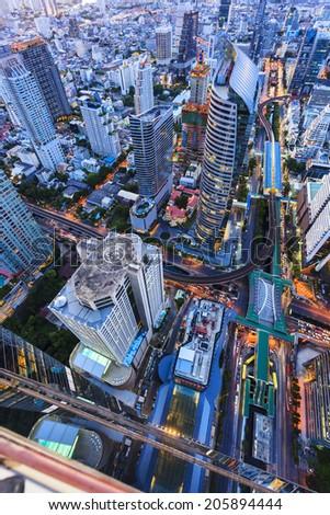 Bangkok cityscape in Thailand - stock photo