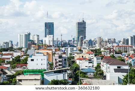 Bangkok cityscape in Thailand, Backgrounds
