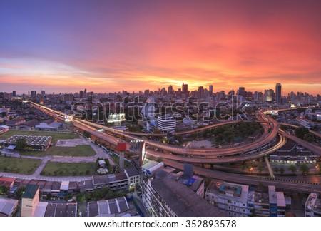 Bangkok cityscapes - stock photo