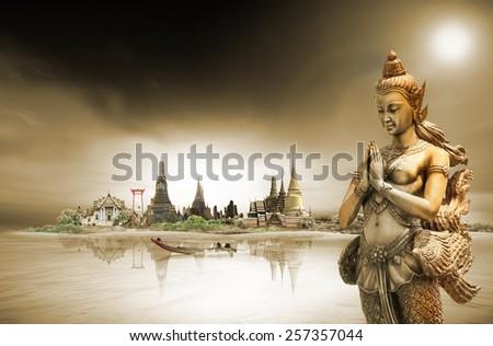 bangkok, concept - stock photo