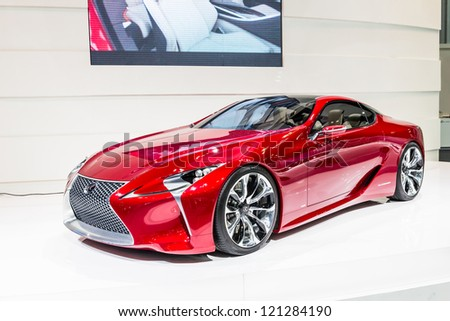 BANGKOK-DEC 03: Lexus concept car on Display at Thailand International Motor Expo 2012 ,December 03 in Bangkok, Thailand - stock photo