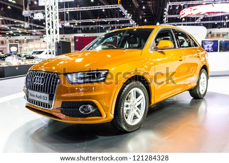 BANGKOK-DEC 03: New Audi Q3 on Display at Thailand International Motor Expo 2012 ,December 03 in Bangkok, Thailand