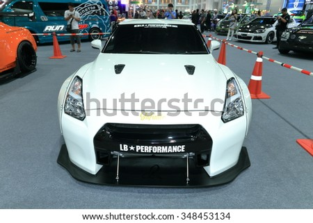 BANGKOK - DECEMBER 1 : Nissan GT-RS modify and decoration for racing,displayed at Thailand International Motor Expo2015, exhibition of vehicles for sale on December 1, 2015 in Bangkok, Thailand.
