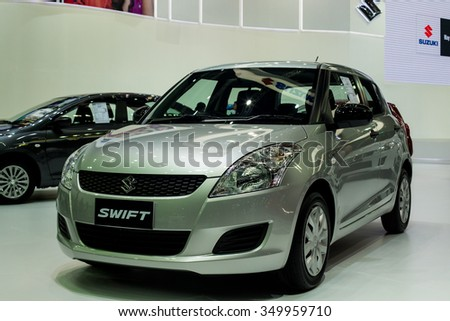 BANGKOK - DECEMBER 2 : 2016  SUSUKI SWIFT reveiled at thes at The 32nd Thailand International Motor Expo 2015 on December 2, 2015 in Bangkok, Thailand.