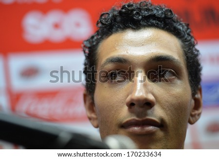 BANGKOK - JANUARY 8: Jay Bothroyd footballer from England during opening the new player of Muangthong United at SCG Stadium on January 8, 2014 in Bangkok.