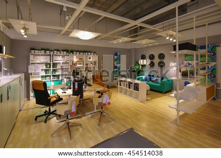 BANGKOK - JUN 26 : Sample of the room interior at Ikea , Mega Bangna on Jun 26, 2016. Founded in Sweden in 1943, Ikea is the world's largest furniture retailer.