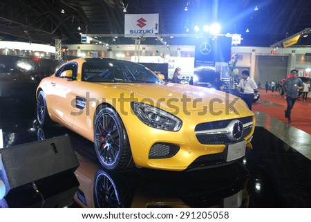 BANGKOK - June 24 : Mercedes benz GTS car on display at Bangkok International Auto Salon 2015 on June 24, 2015 in Bangkok, Thailand.