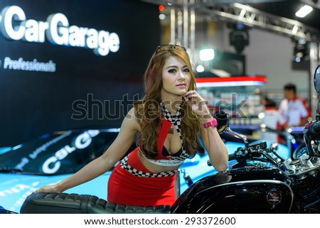 BANGKOK - JUNE 24 : Unidentified model on display at Bangkok International Auto Salon 2015 on June 24, 2015 in Bangkok, Thailand. Event of decoration and modify car. - stock photo