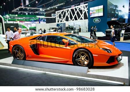 BANGKOK - MARCH 27: ADV1 Lamborghini car on display at The 33th Bangkok International Motor Show  on March 27, 2012 in Bangkok, Thailand. - stock photo