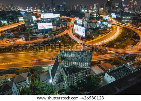 BANGKOK,MARCH 13 2016 : Bangkok cityscape of the financial district, Thailand on February 26 2016