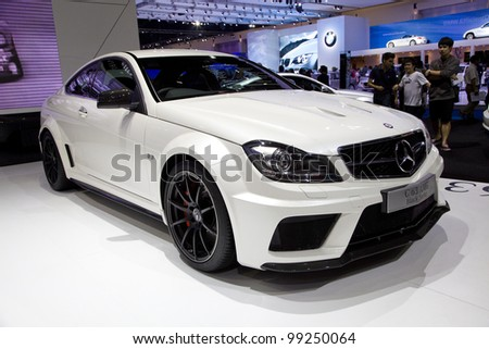 BANGKOK - MARCH 31:Benz AMG car on display at The 33th Bangkok International Motor Show on March 31, 2012 in Bangkok, Thailand. - stock photo