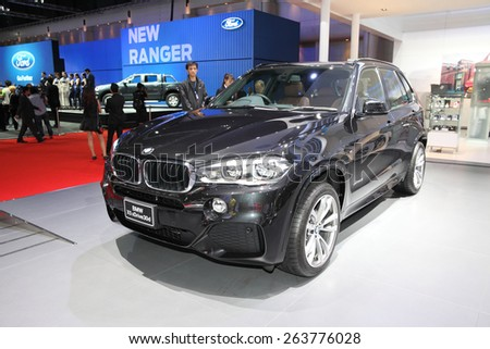 BANGKOK - MARCH 24: BMW x5 xdrive 30d car on display at The 36 th Bangkok International Motor Show on March 24, 2015 in Bangkok, Thailand.
