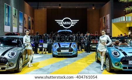 BANGKOK - MARCH 22 : Mini Cooper Exhibit booth on display at The 37th Bangkok International Motor Show : No �Boundaries Mobility on March 22, 2016 in Bangkok, Thailand. - stock photo