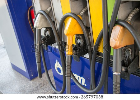 BANGKOK, March 30: PTT gas station on March 30, 2015 in Bangkok, Thailand. PTT is largest oil company in Thailand