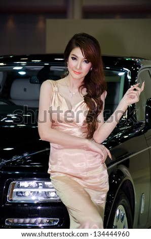 BANGKOK - MARCH 28 : The Rolls-Royce with Unidentified model on display at The 34th Bangkok International Motor Show 2013 on March 28, 2013 in Bangkok, Thailand.