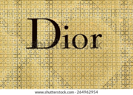 BANGKOK - March 17 2015: The sign of Dior at Dior store  in Siam Paragon Bangkok, Thailand. It is a French company controlled and chaired by Bernard Arnault who also heads Louis Vuitton.
