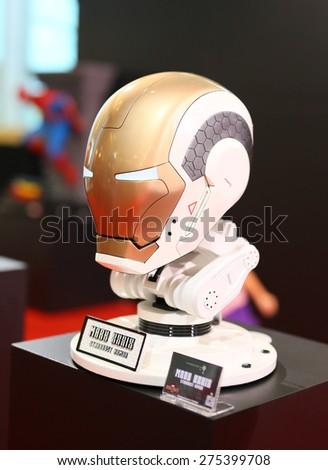 BANGKOK - MAY 1: An Ironman model in Thailand Comic Con 2015 on May 1, 2015 Display at Siam Paragon, Bangkok, Thailand. - stock photo