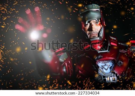 BANGKOK - MAY 21,2014 : Iron Man model room on display in Thailand 2014 on May 21, 2014 at Bangkok, Thailand. - stock photo