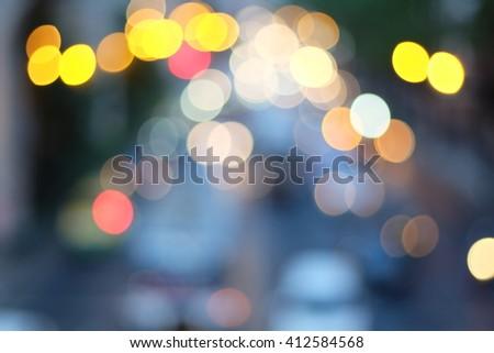 Bangkok Night Life Blurred - stock photo