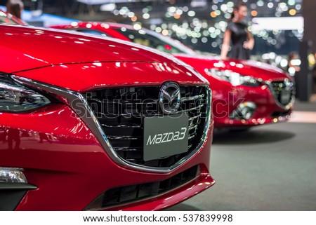 BANGKOK - November 30, 2016 : Mazda car on display at Thailand International Motor Expo 2016, exhibition of vehicles for sale on November 30, 2016 in Bangkok, Thailand.