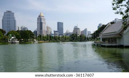Bangkok park - stock photo