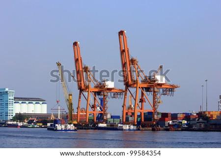 Bangkok Port or Port Authority of Thailand, Marine Cargo, Marine Hull, Insurance - stock photo